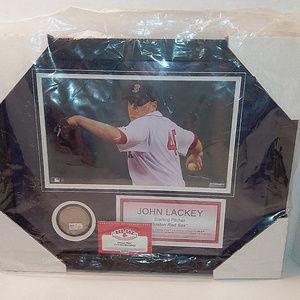 Red Sox John Lackey Framed Picture With Authentic
